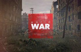 AE模板 炫酷高端3D实景特效战争片头包装模板 AE素材