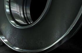 AE模板 暗黑炫酷立体厚重金属质感演绎logo模板 AE素材