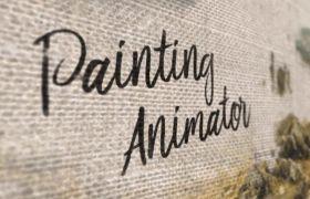 AE模板 艺术绘制水彩油画水墨晕染相册幻灯片模板 AE素材