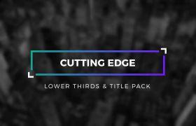 AE模板 现代商务文字标题字幕条动画模板 AE素材