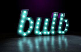 AE模板 炫酷明亮灯泡灯光闪烁演绎立体logo模板 AE素材