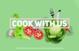 AE模板 清新动感图文美食类节目包装模板 AE素材