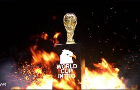 AE模板 炫酷火焰世界杯体育奖杯栏目包装宣传模板 AE素材