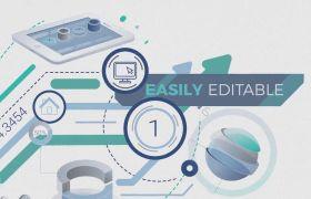AE模板 商务企业会议信息图表递增动画模板 AE素材