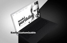 AE模板 创意简洁黑白节奏网站介绍演示模板 AE素材