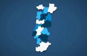 AE模板 国家地图拼图拼接定位展示动画模板 AE素材