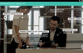AE模板 簡潔商務文字對話框引申介紹模板 AE素材
