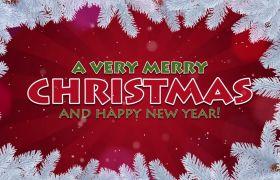 AE模板 温馨浪漫圣诞节雪花飘落幻灯模板 AE素材