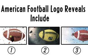 AE模板 体育运动美式足球橄榄球模型创建模板 AE素材
