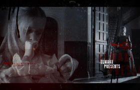 AE模板 恐怖惊悚鬼屋探险电影包装预告模板 AE素材