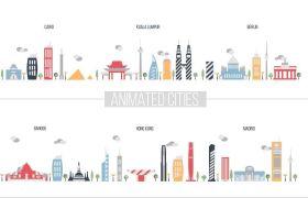 AE模板 强大平面动画元素图标合集包模板 AE素材