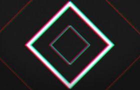 AE模板 动感图形伸缩变换logo动画模板 AE素材