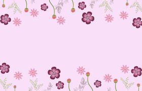 可爱花朵动态图卡通动画背景视频