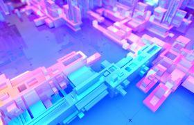 动感发光抽象工业模型VJ视频素材
