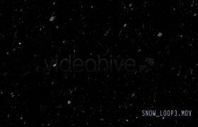 雪花下雪特效前景通道视频素材