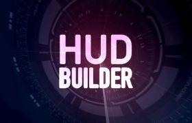 AE模板 HUD科技屏幕表盘信息展示动画模板 AE素材