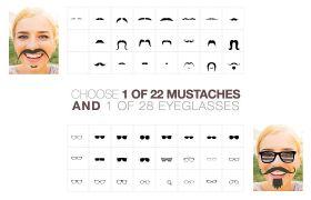 AE模板 卡通有趣胡须眼镜相册幻灯特效模板 AE素材