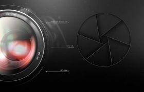 AE模板 现代单反摄影相机聚焦广告宣传模板 AE素材