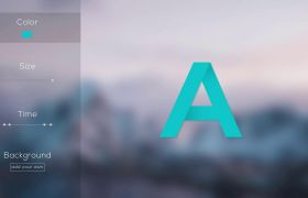 AE模板 有趣怪诞剪纸卡通阴影变色字体模板 AE素材