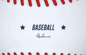 AE模板 棒球体育运动卡通动画演绎标志logo模板 AE素材