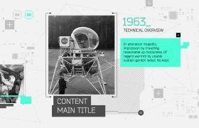 AE模板 科技事件时间线图文展示幻灯片模板 AE素材