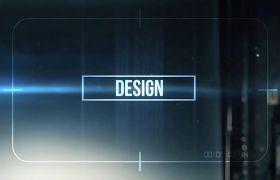 AE模板 动感震撼抖动故障电影开场logo模板 AE素材