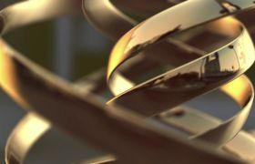 金色螺旋金属光泽线条视频素材