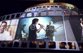 AE模板 动感金色粒子飞舞舞台颁奖典礼模板 AE素材