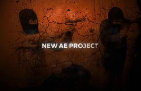 AE模板 震撼史诗火焰粒子电影预告宣传模板 AE素材