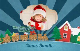 AE模板 新年圣诞节儿童趣味卡通动画包装模板 AE素材