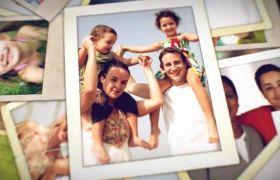 AE模板 温馨灯光家庭旅行美好回忆相册模板 AE素材