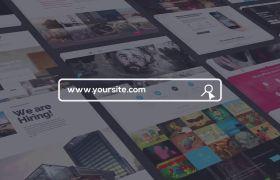AE模板 现代网站网页设计演示介绍宣传模板 AE素材