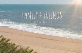 AE模板 夏日小清新海滩相框家庭相册模板 AE素材