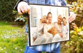 AE模板 温馨家庭纪念回忆相框相册模板 AE素材