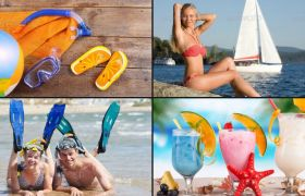 AE模板 热情动感屏幕分割夏日旅行相册模板 AE素材