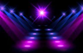 抽象紫色炫丽灯光舞台循环背景视频
