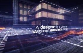 AE模板 超炫未来城市电子科技电影开场模板 AE素材