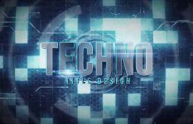 AE模板 炫光科技感电子标题字幕片头模板 AE素材