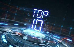 AE模板 炫酷倒計時排行top10展示包裝模板 AE素材