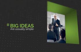 AE模板 商务企业引用文字排版宣传介绍模板 AE素材