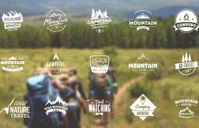 AE模板 多款创意旅行宣传艺术标题徽章模板 AE素材