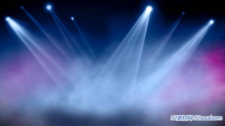 舞台灯光闪烁 聚光灯效果 光效光线唯美舞台背景动态视频素材