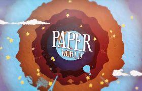 AE模板 卡通剪纸故事书儿童教学包装模板 AE素材