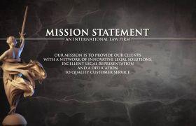 AE模板 优雅法律律师行业视频包装模板 AE素材