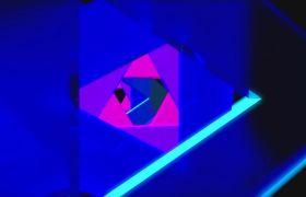 抽象动感三角视觉隧道循环背景视频