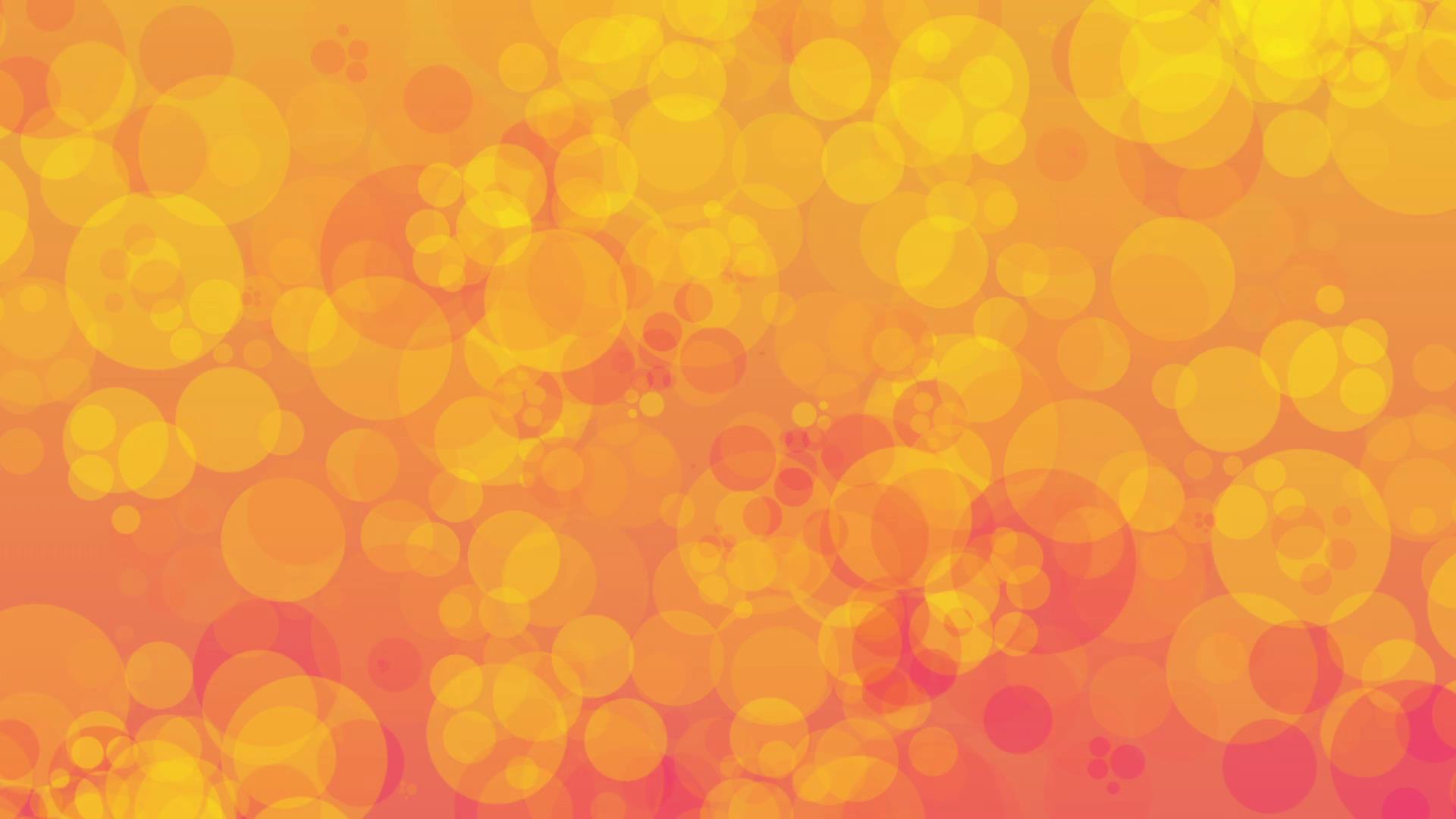 梦幻橙色气泡光斑闪烁背景视频-92素材网_ae模板,视频