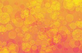 梦幻橙色气泡光斑闪烁背景视频