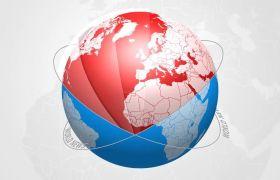 AE模板 综合新闻广播电视栏目包装地球动画模板 AE素材