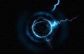 AE模板 炫酷能量球闪电汇聚特效logo模板 AE素材