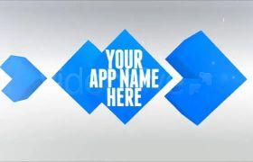 AE模板 經典藍色商務時間歷程圖文包裝模板 AE素材